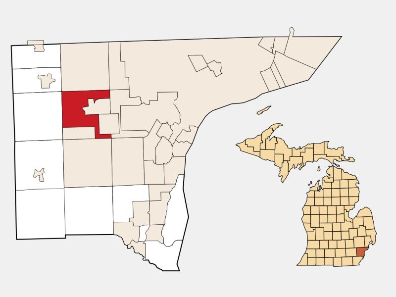 Westland locator map