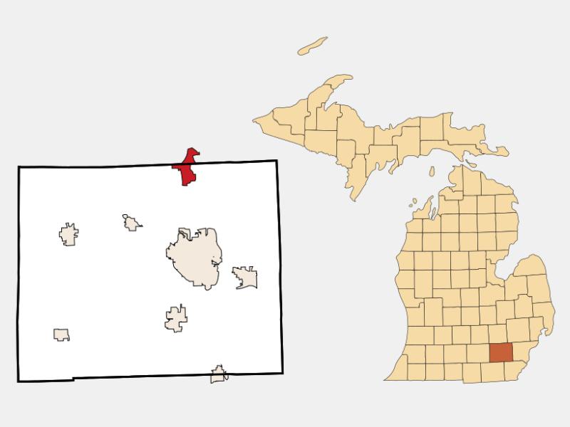 Whitmore Lake locator map