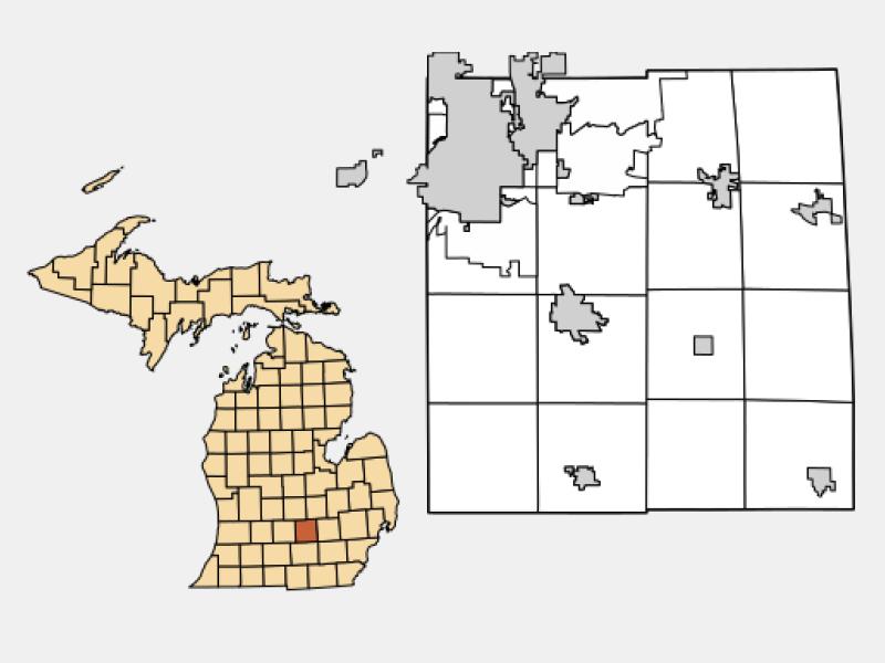 Williamston locator map