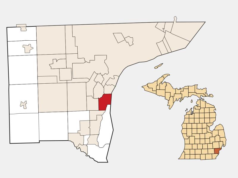 Wyandotte locator map