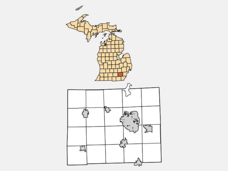 Ypsilanti locator map