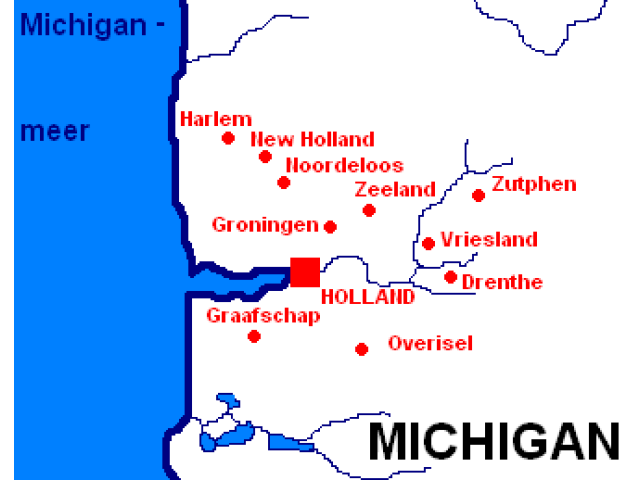 Zeeland locator map