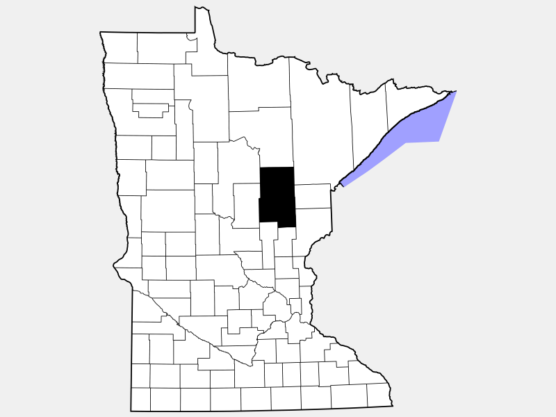Aitkin County locator map