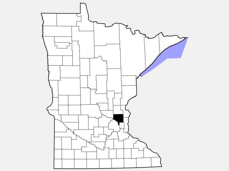 Anoka County locator map