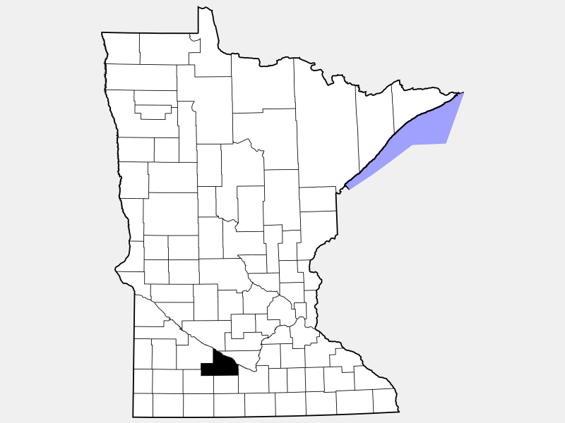 Brown County location map