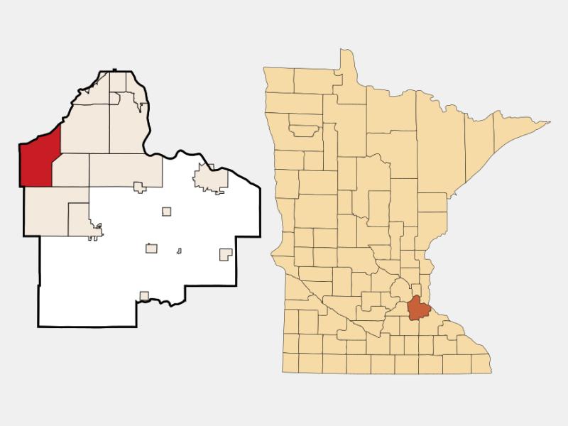 Burnsville locator map