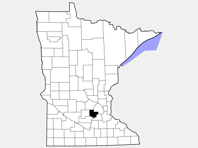 Carver County locator map