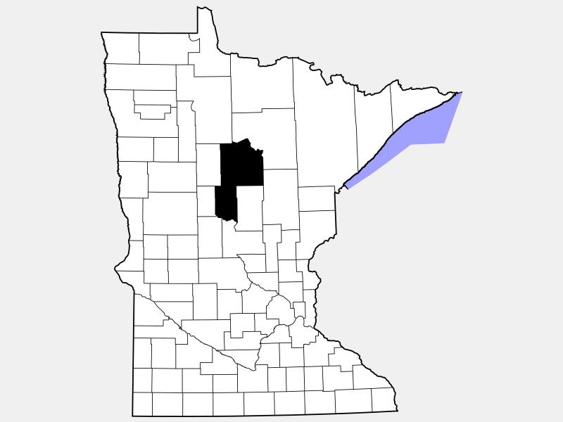 Cass County locator map