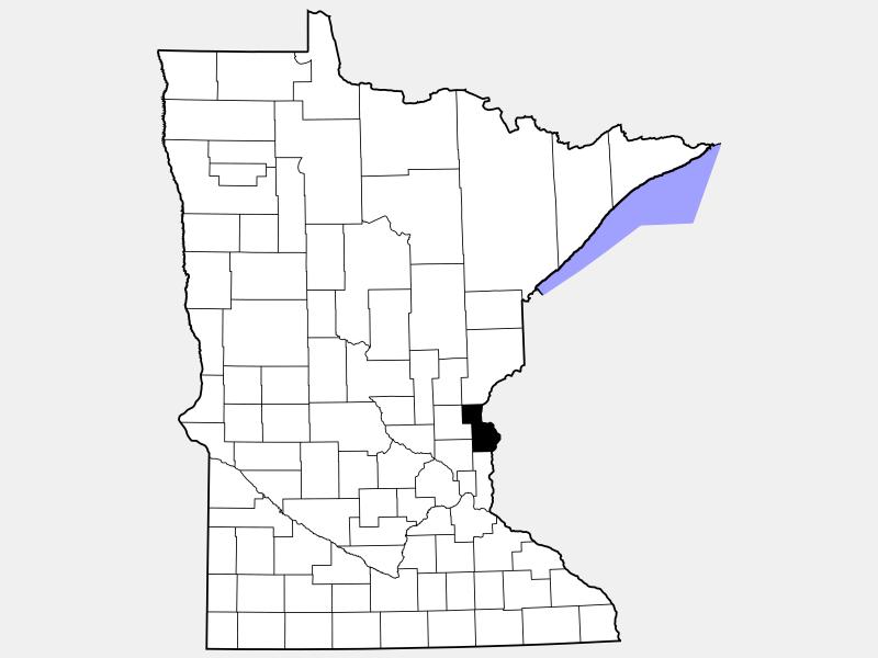 Chisago County locator map