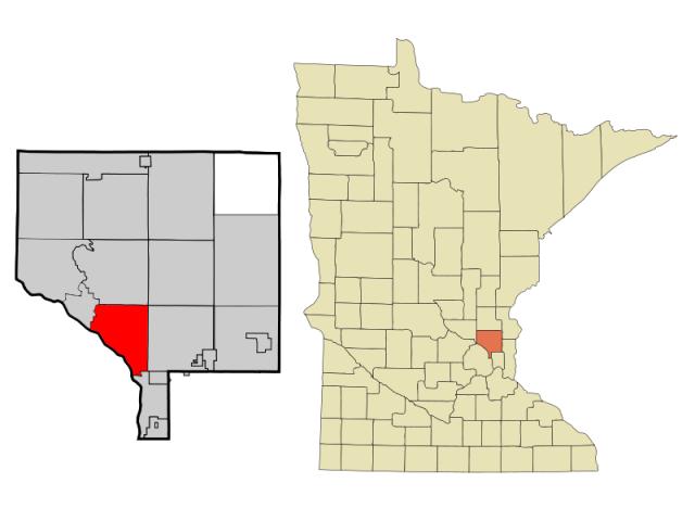 Coon Rapids locator map