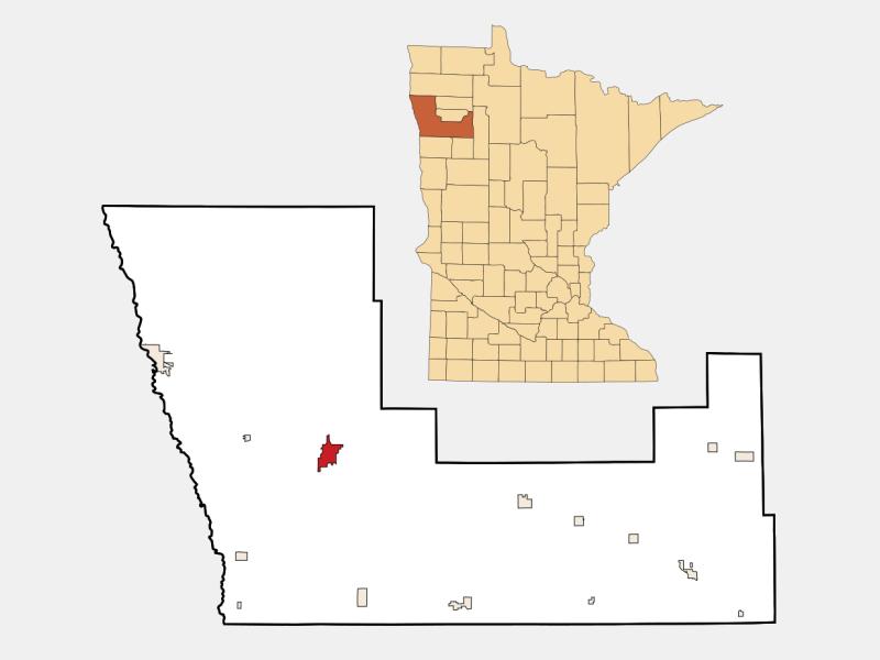 Crookston locator map