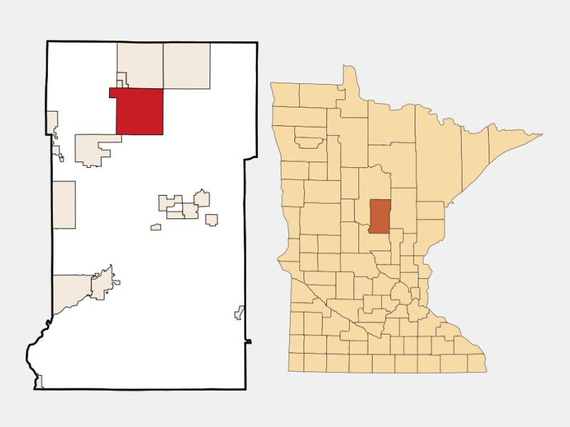 Cross Lake location map