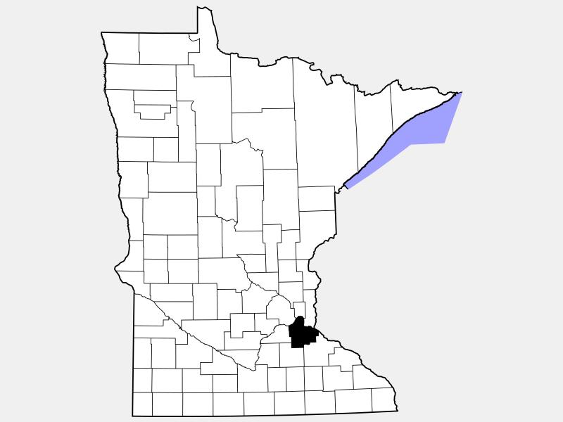 Dakota County locator map