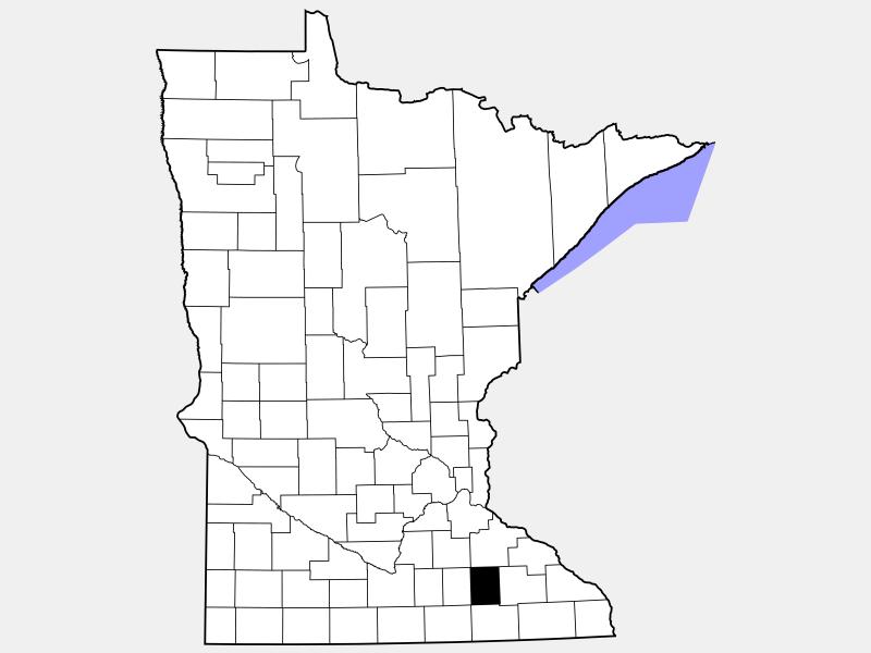 Dodge County locator map