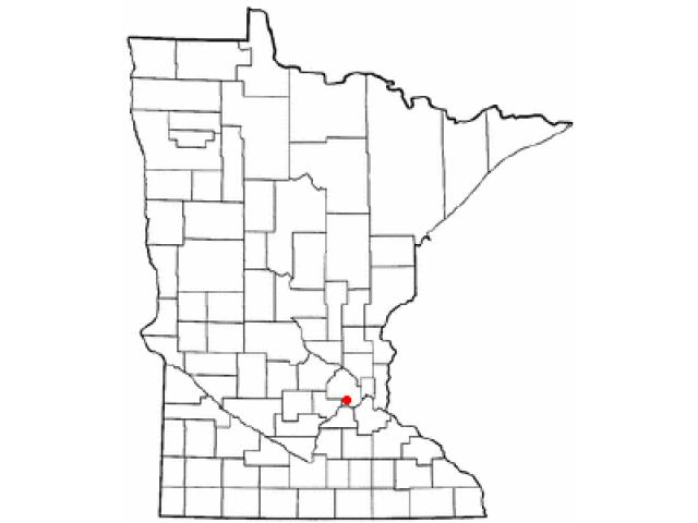 Eden Prairie locator map