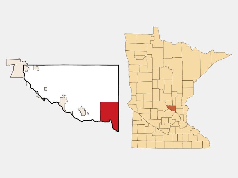 Elk River locator map