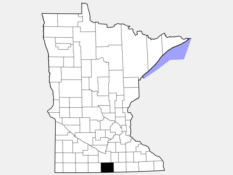 Faribault County locator map