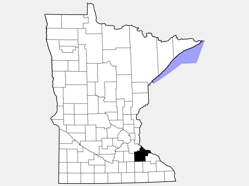 Goodhue County locator map