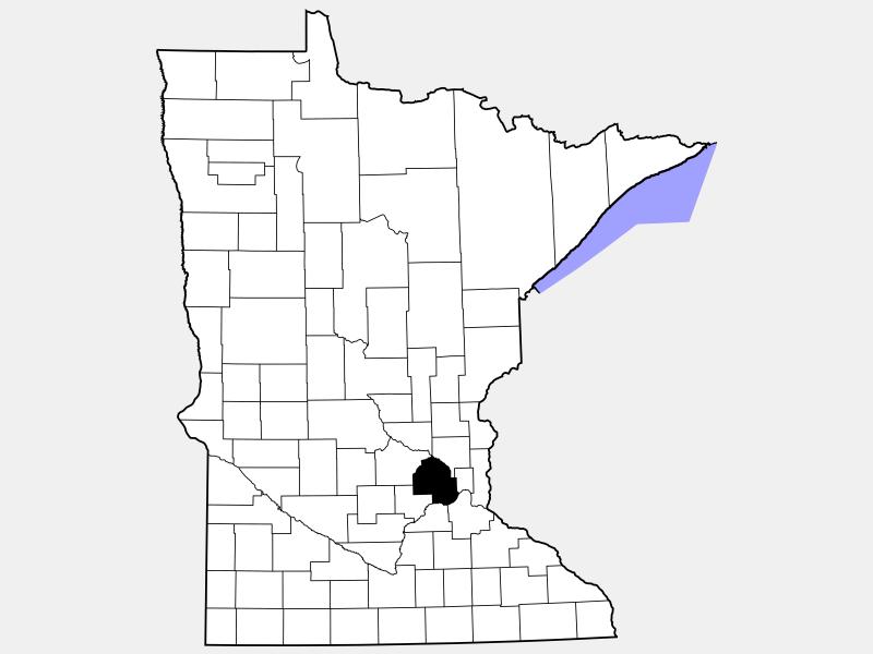 Hennepin County locator map