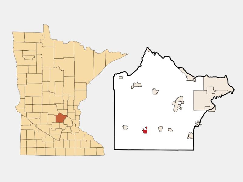 Howard Lake locator map