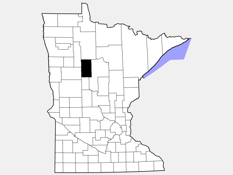 Hubbard County locator map
