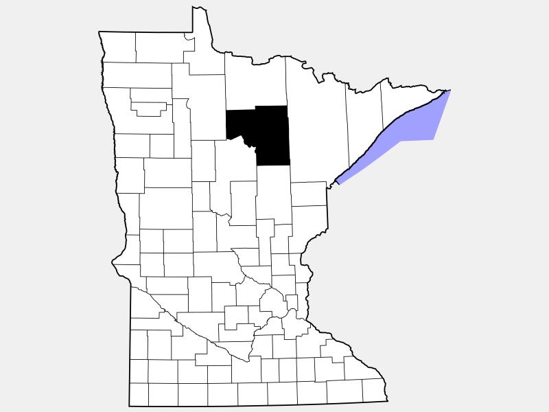 Itasca County locator map