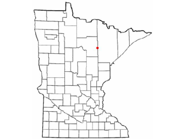 Keewatin location map