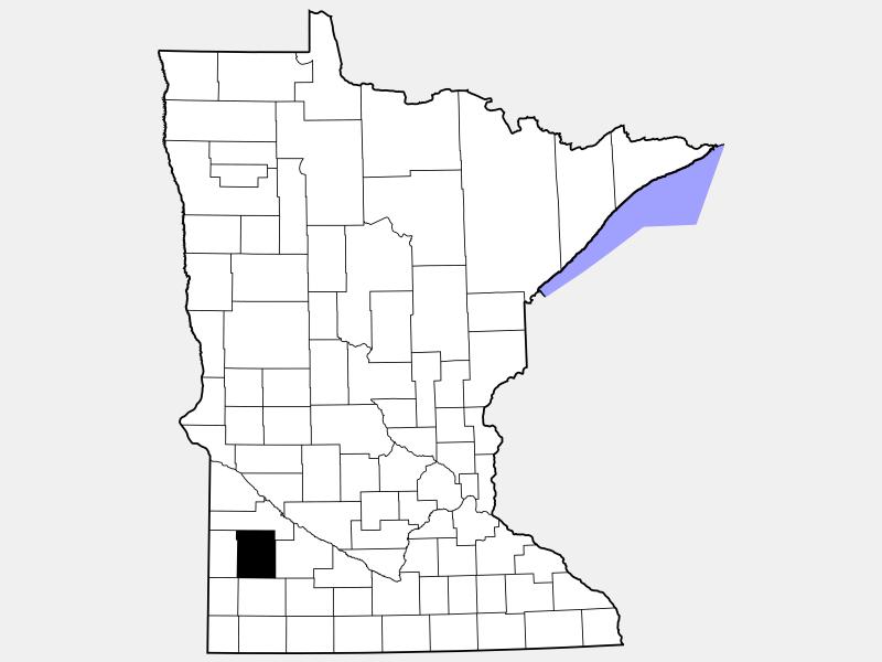 Lyon County locator map