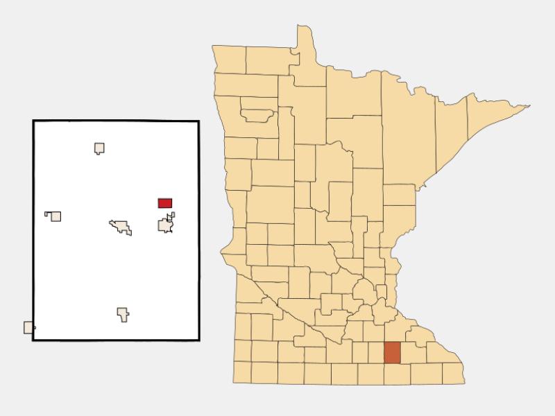 Mantorville locator map