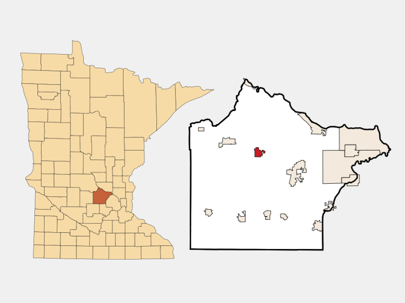 Maple Lake locator map