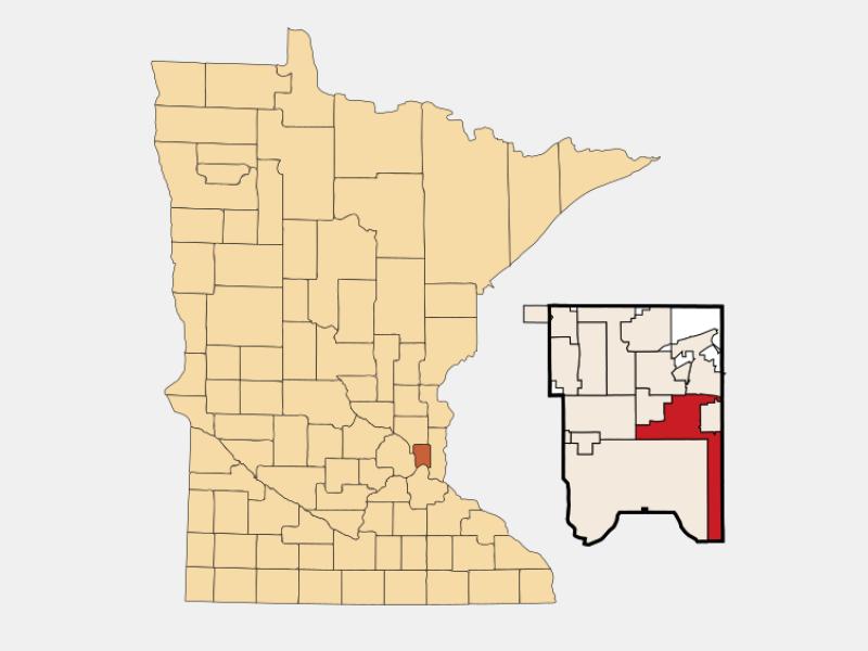 Maplewood locator map