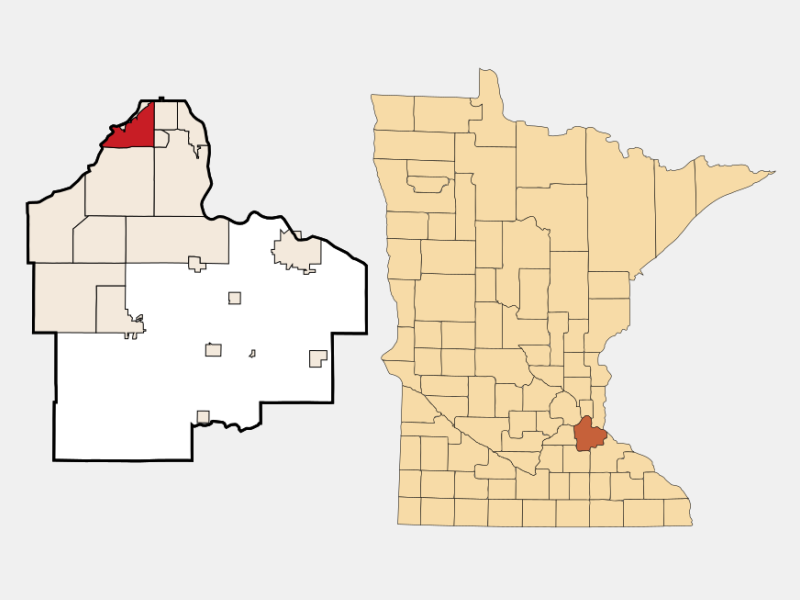 Mendota Heights location map