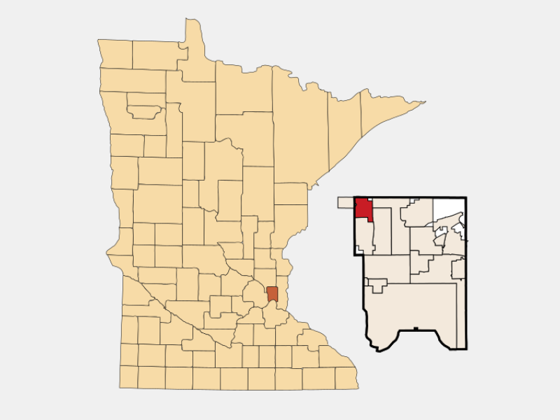 Mounds View locator map