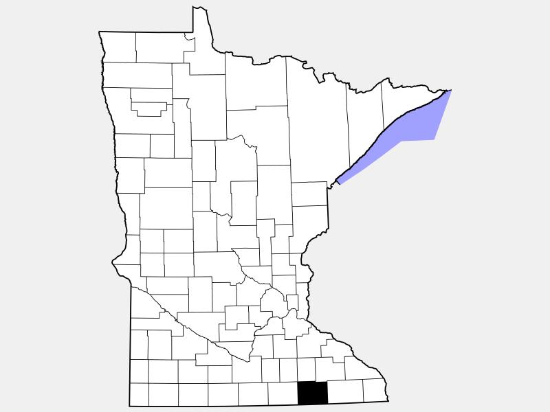 Mower County locator map