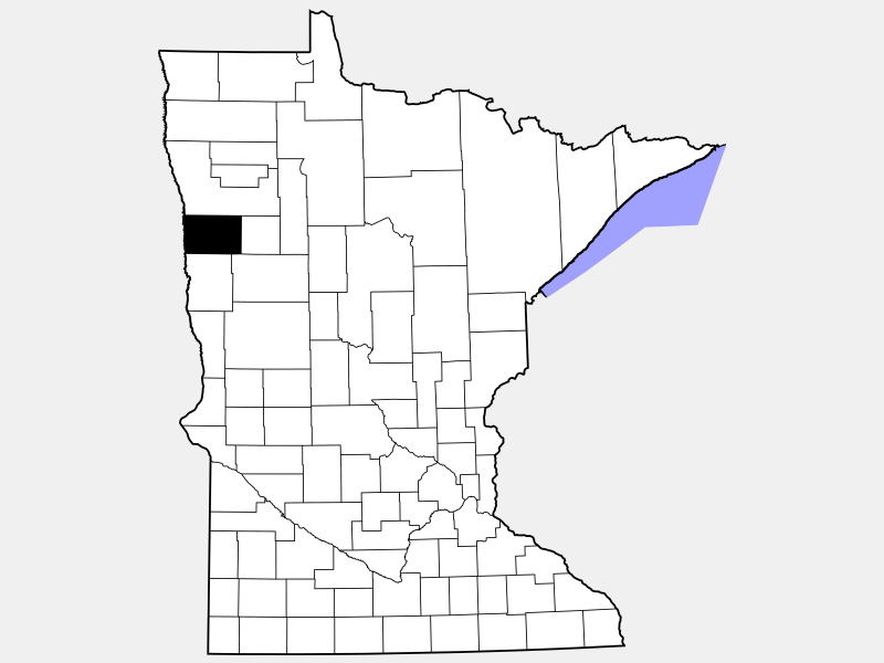 Norman County locator map