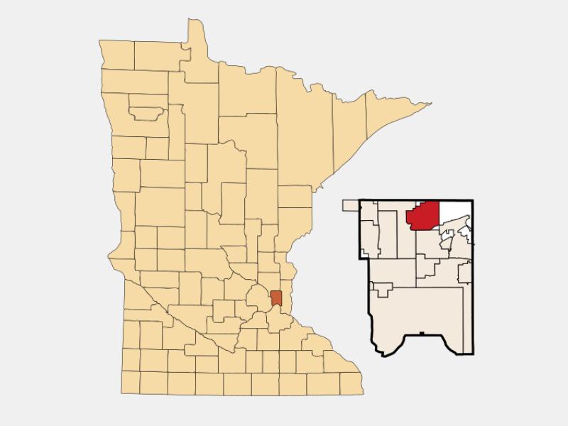North Oaks locator map