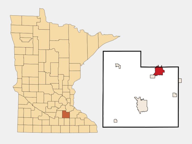 Northfield locator map