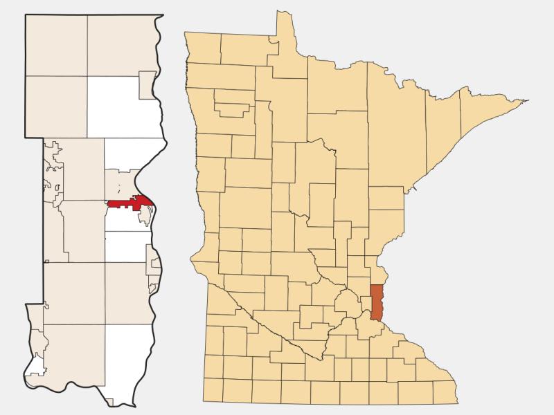 Oak Park Heights locator map