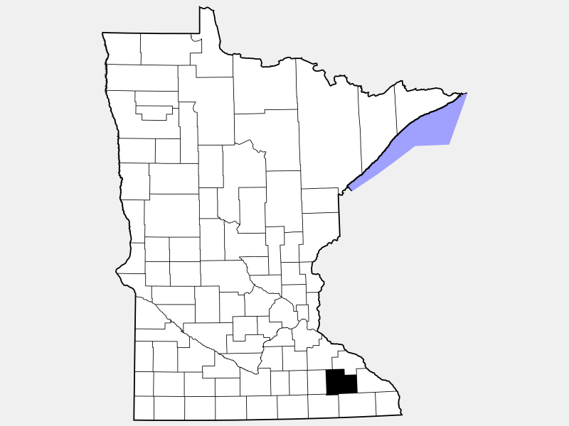Olmsted County locator map