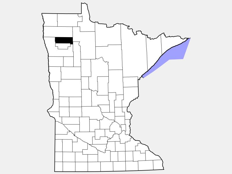 Pennington County locator map