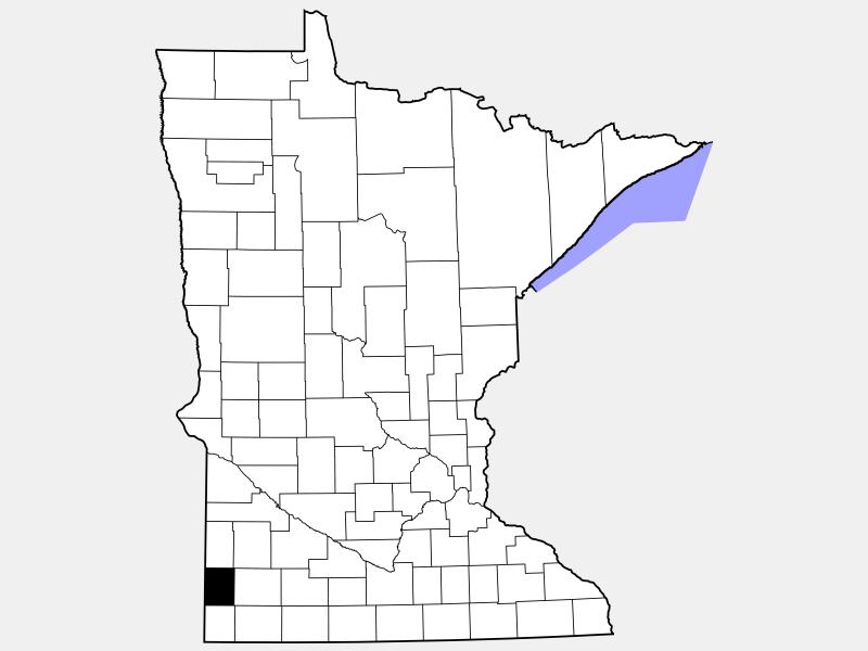 Pipestone County locator map