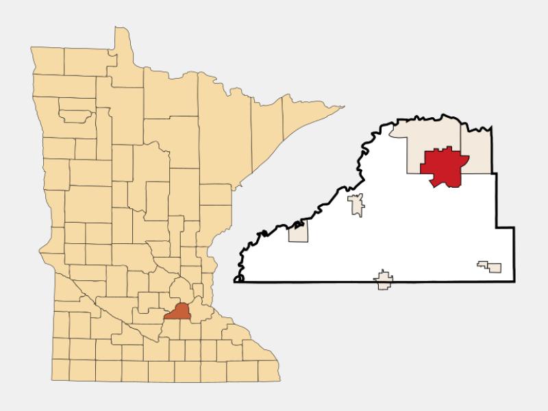 Prior Lake locator map