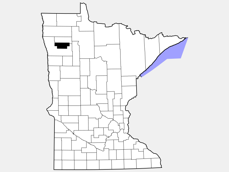 Red Lake County locator map
