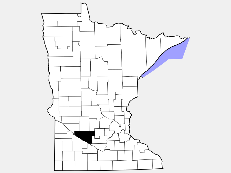 Renville County locator map