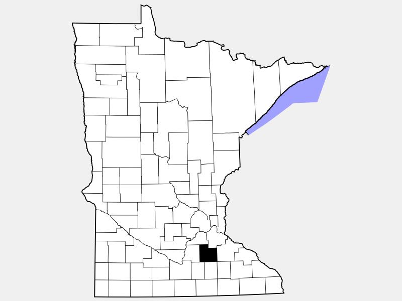 Rice County locator map