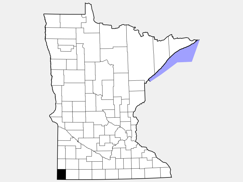 Rock County locator map