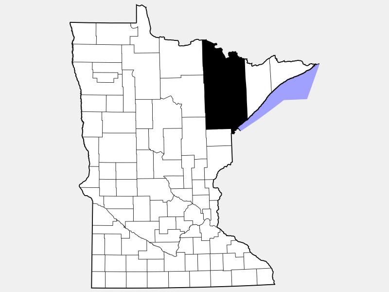 Saint Louis County locator map