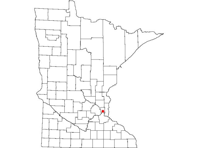 Saint Paul locator map