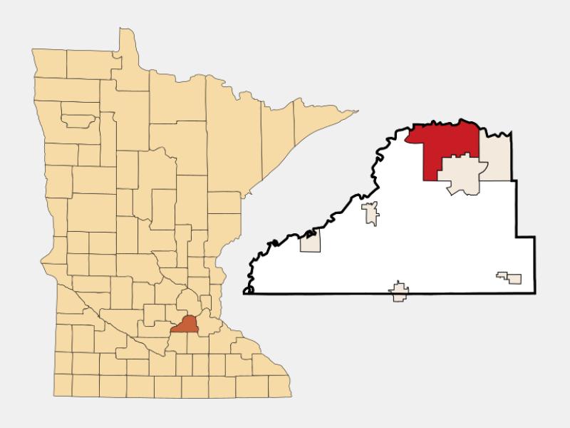 Shakopee locator map