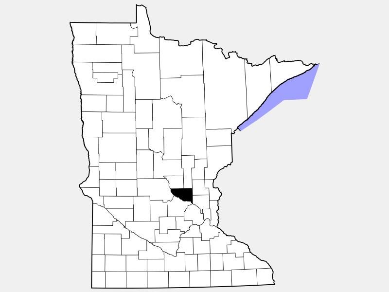 Sherburne County locator map